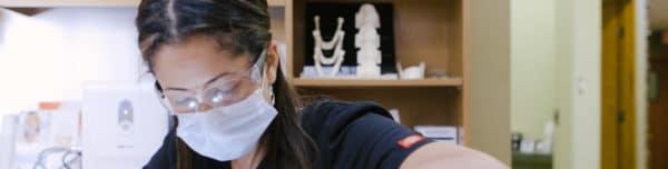 Dr Provo in exam room - NOVO Dental