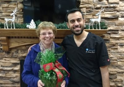 Dr. Nada with December Monthly Draw Winner
