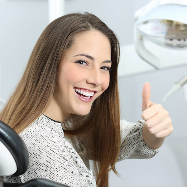 relaxed and heppy person at NOVO Dental Centre