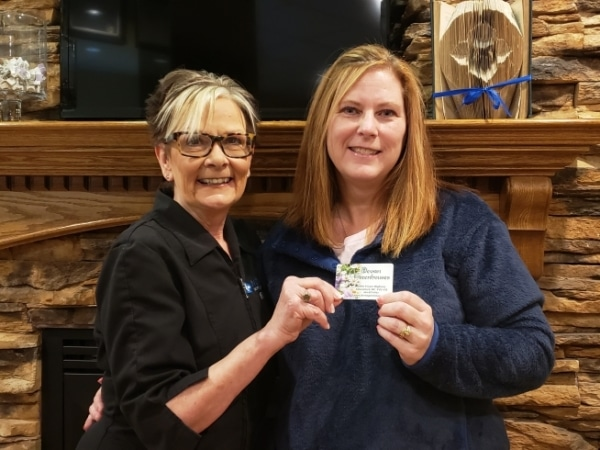 NOVO receptionist with Monthly Draw Winner
