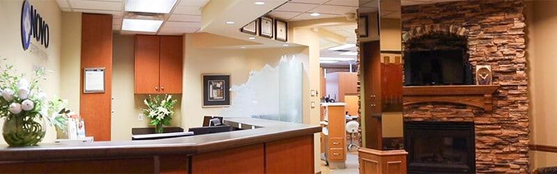NOVO Dental Centre reception desk