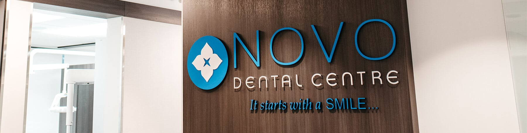 NOVO Dental Centre sign in new office