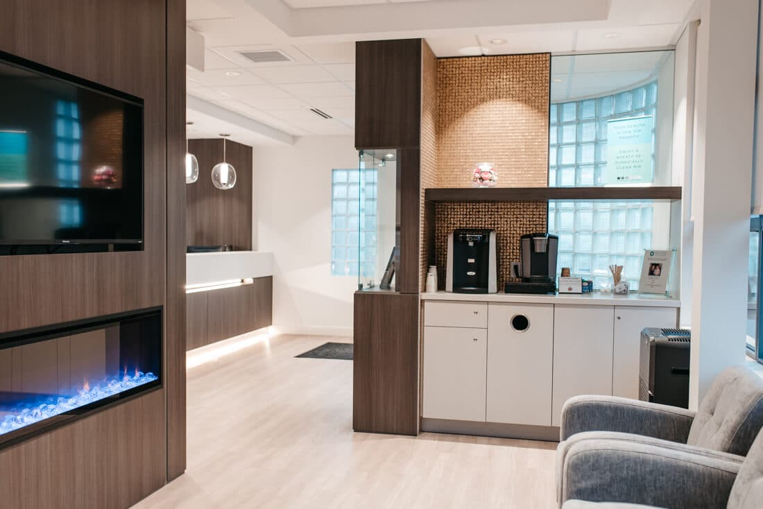 NOVO Dental Centre - waitng area coffee bar