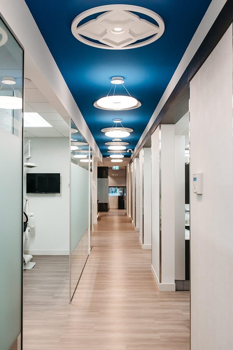 NOVO Dental Centre hallway into dental exam area