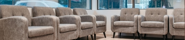 comfortable chairs in NOVO Dental Centre waiting area