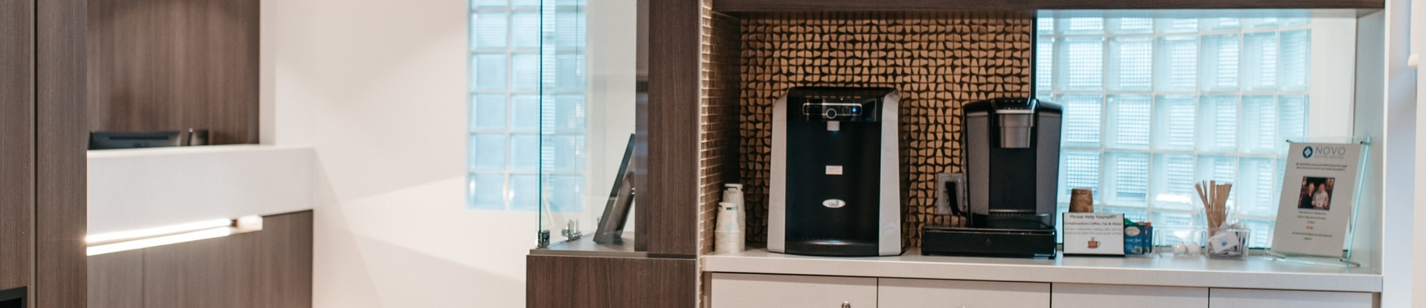 NOVO Dental Centre coffee and water bar